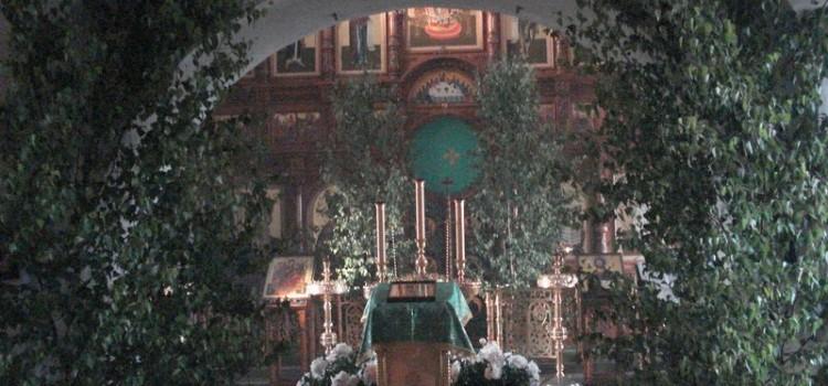 Убранство на Троицу храма